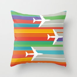 Swooosh-04 Throw Pillow
