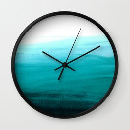 Ombre background in turquoise Wall Clock
