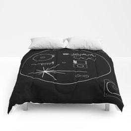 Voyager 1 - Black Comforters