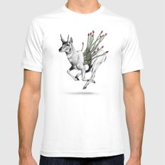 Pronghorn MEDIUM Mens Fitted Tee White