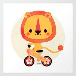 Bici Bici Lion Art Print