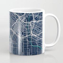 Los Angeles Blue Dark Color City Map Coffee Mug
