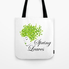 Mother nature with green leaves of spring as her hair- earth day Tote Bag