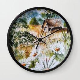 Countryside Summer Wall Clock