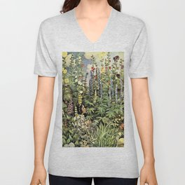 Jessie Willcox Smith - A Child's Garden Of Verses - Digital Remastered Edition Unisex V-Neck