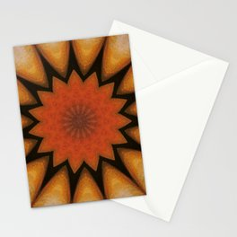 Solar // Mandala Rays Orange Yellow Golden Energy Chakra Healing Light Stationery Cards