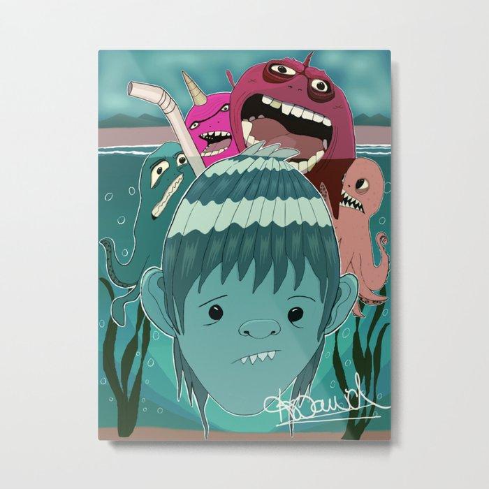 """Aquaboy"" by Kieran David Metal Print"