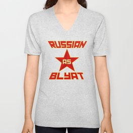 Russian as Blyat Unisex V-Neck