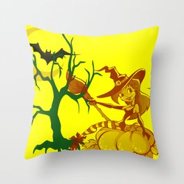 Sassy Little Witch Throw Pillow