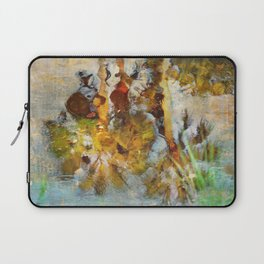 Palm Trees in Pond Laptop Sleeve