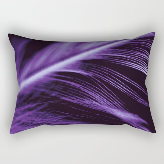 Purple Feather close up Rectangular Pillow