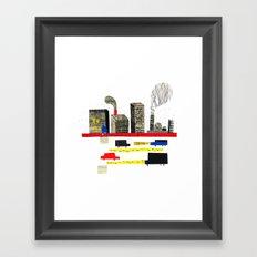 Small City Stories II Framed Art Print