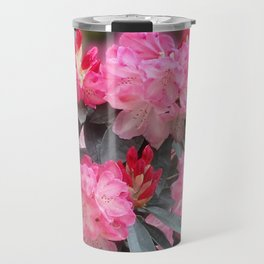 Dreamy Pink Rhododendrons Travel Mug