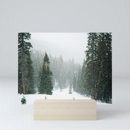 Snow Covered Forest Mini Art Print