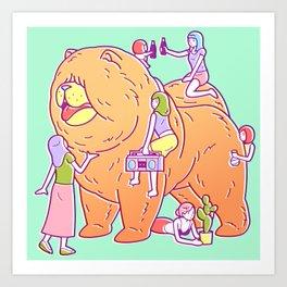 Giant Chow Chow Art Print