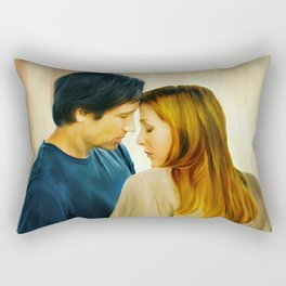 I Want to Believe painting Rectangular Pillow
