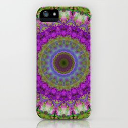 Soft Light - Kaliedescope Mandala By Sharon Cummings iPhone Case