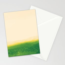 Astract Modern Pink and Green Desert Lanscape Stationery Cards