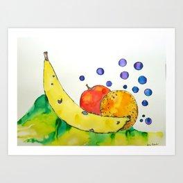 Bubbly Mixed Fruit Art Print
