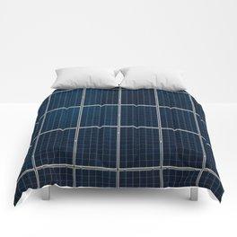 Solar Panel Pattern (Color) Comforters