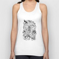 berserk Tank Tops featuring THE HOUND - WHITE by SOMNIVAGRIOUS