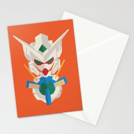 gundam exia flat design Stationery Cards