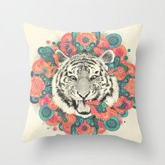bengal mandala Throw Pillow