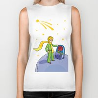 the little prince Biker Tanks featuring Little prince by Dennis Morgan