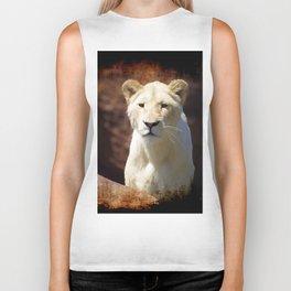 African White Lion Biker Tank