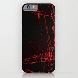 Horror -Dark Red- iPhone Case