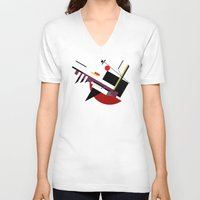 kandinsky V-neck T-shirts featuring STARSHIP by THE USUAL DESIGNERS