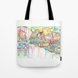 Alice's Mad Tea Party Tote Bag