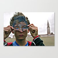 mask Canvas Prints featuring mask by jamie hudson
