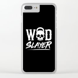 WOD Slay er Skull Clear iPhone Case