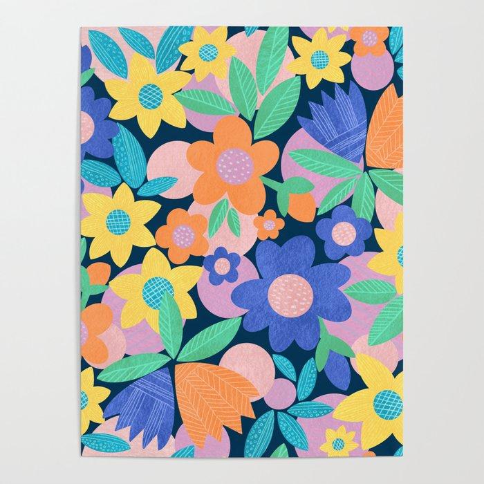 Spring Mod Flowers Pattern