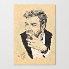 C. Hemsworth Portrait Canvas Print