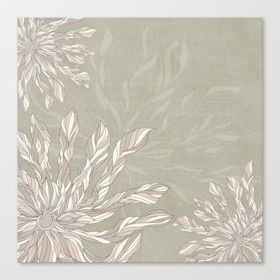 Flower Power Earthtones Canvas Print