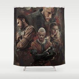 Warriors Heart Shower Curtain