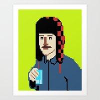 8bit Art Prints featuring Self-8bit by Judge Bockman