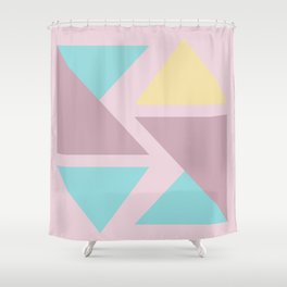 Origami triangle art pastel palette Shower Curtain