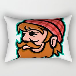 Paul Bunyan Lumberjack Mascot Rectangular Pillow