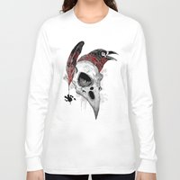 writer Long Sleeve T-shirts featuring DARK WRITER by TOXIC RETRO