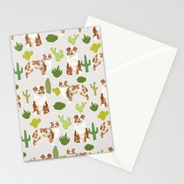 Australian Shepherd owners dog breed cute herding dogs aussie dogs animal pet portrait cactus Stationery Cards