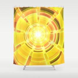 Golden Scope Shower Curtain