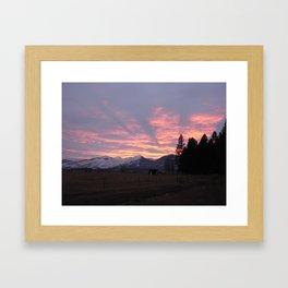 #406 sunset coming to calif sunday 1 26 14 Framed Art Print