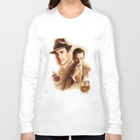 mad men Long Sleeve T-shirts featuring MAD MEN DON DRAPER by TOXIC RETRO