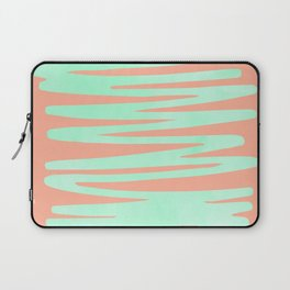 Sweet Life Soft Serve Peach Coral + Mint Meringue Laptop Sleeve