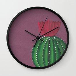 Flowering Cactus Wall Clock