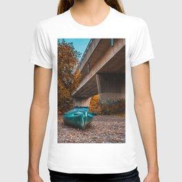 Kayaks Under the Bridge. Photograph T-shirt