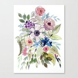 Anemone Squad Goals : Watercolor Floral Canvas Print